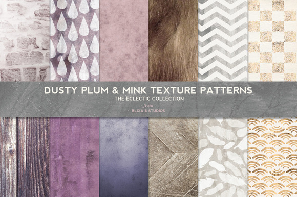 Dusty Plum Mink Textured Patterns