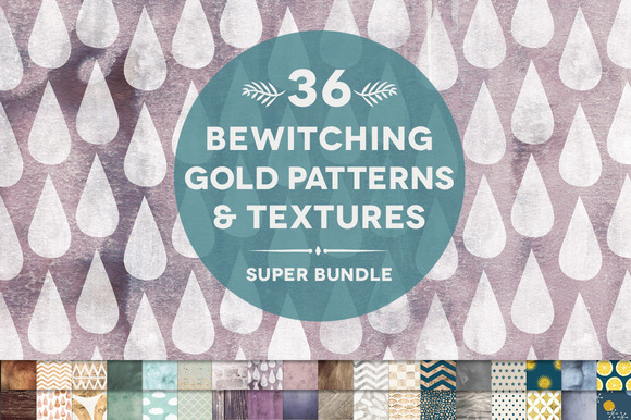 36 Bewitching Gold Textures Bundle