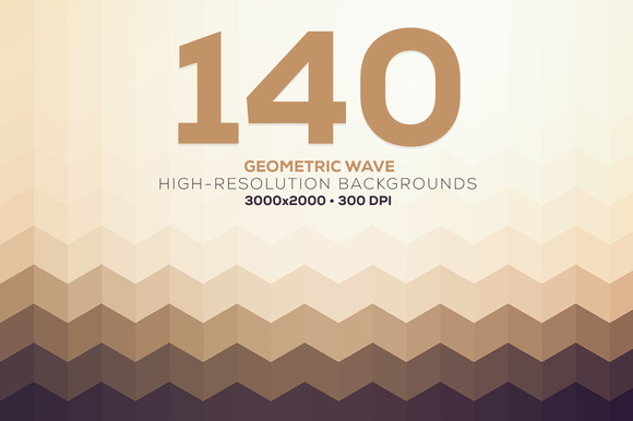 Geometric Wave Background Pack
