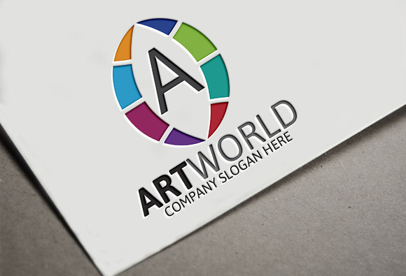 Art World Letter A Logo