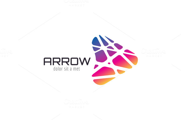 Vector Arrow Abstract Logo Template