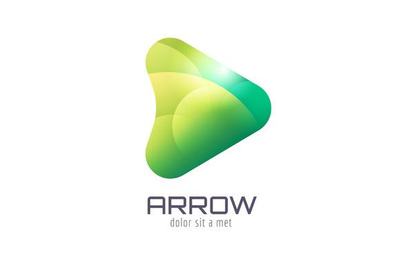 Vector Arrow Abstract Logo Template