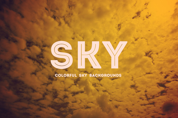 10 Colorful Sky Backgrounds V1