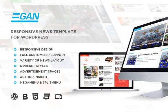 Egan Magazine WordPress Theme