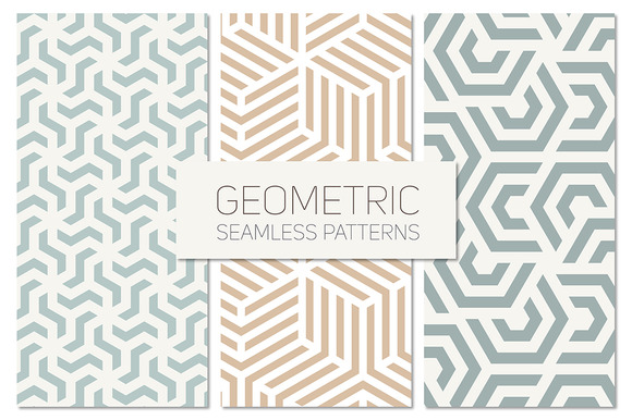 Geometric Seamless Patterns Set 4