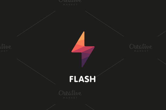 Flash Logo Design Vector Illustation