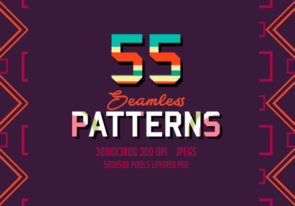 55 Seamless Patterns