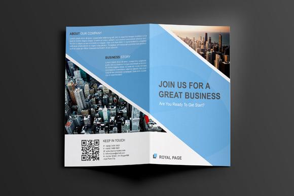 Blue Sky Bifold Corporate Brochure