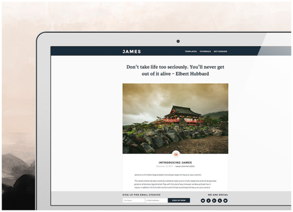James Genesis WordPress Theme