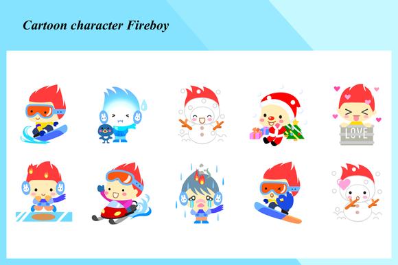 Cartoon Characters Fireboy