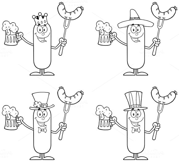 Sausage Character Collection Set 2