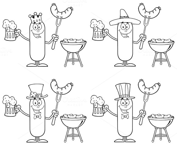 Sausage Character Collection Set 7