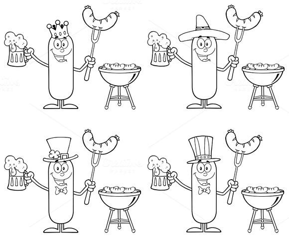 Sausage Character Collection Set 7