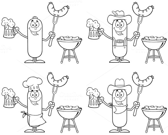 Sausage Character Collection Set 3