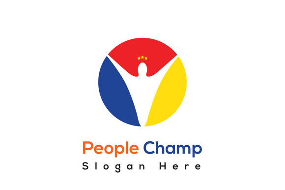 People Champ Logo Template
