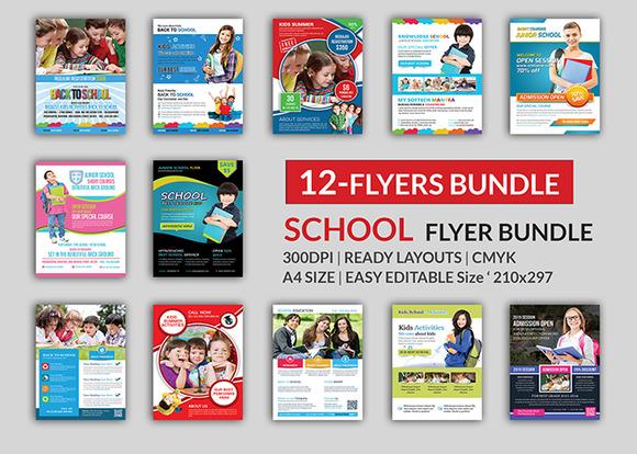 School Education Flyer Bundle