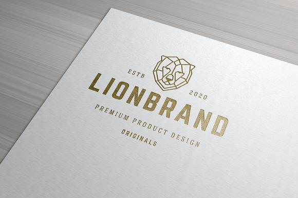 Lion Face Line Art Logo
