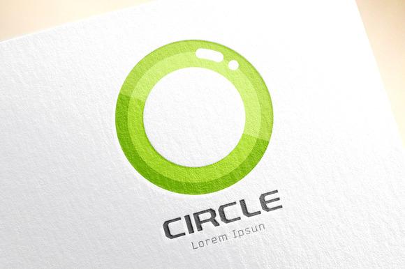 Abstract Colored O Vector Icon Logo