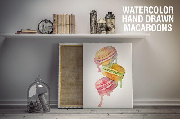 Watercolor Vector Macaroons