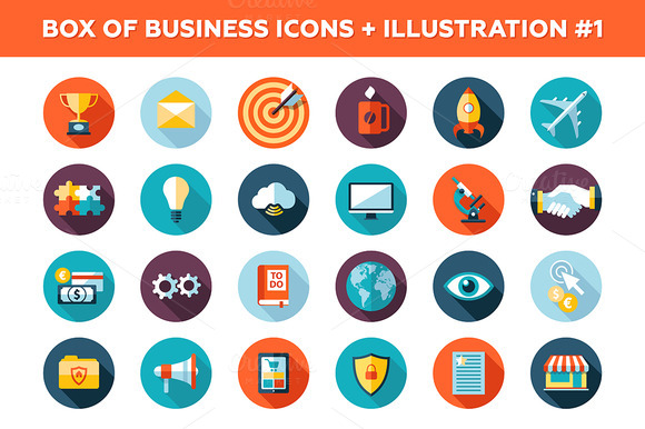 25 Business Icons Box