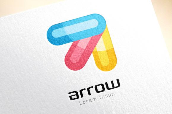 Vector Colored Arrow Logo Template