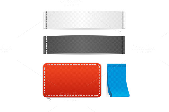Vector Fabric Clothing Labels Set