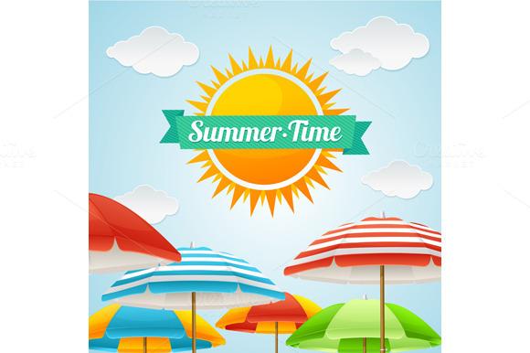Vector Summer Card Set