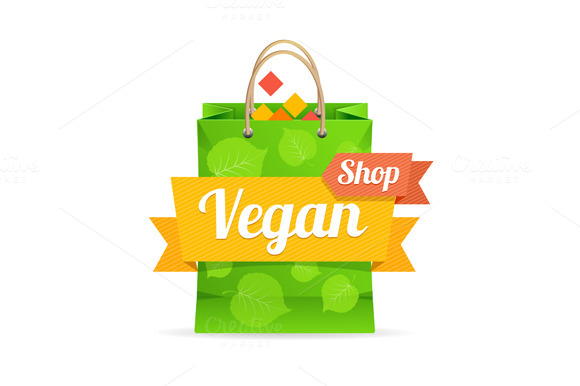 Vector Vegan Shop Concept