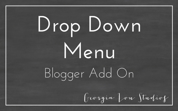 Drop Down Menu Bar Blogger Template