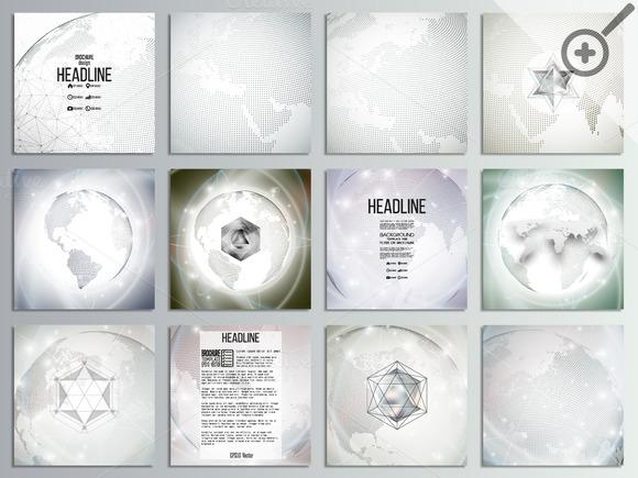 Set Of Brochures Templates