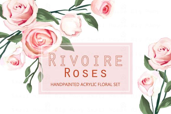 Rivoire Roses- Watercolor Clip Art