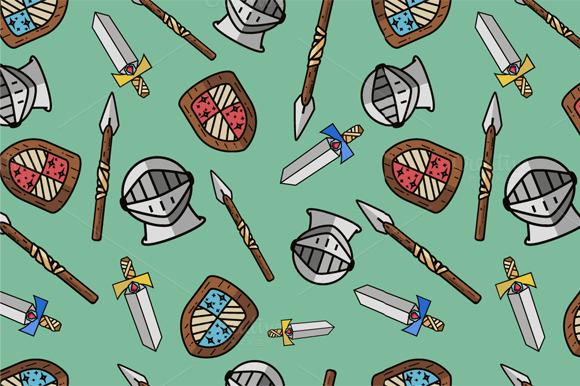 Seamless Warrior Pattern For Kids