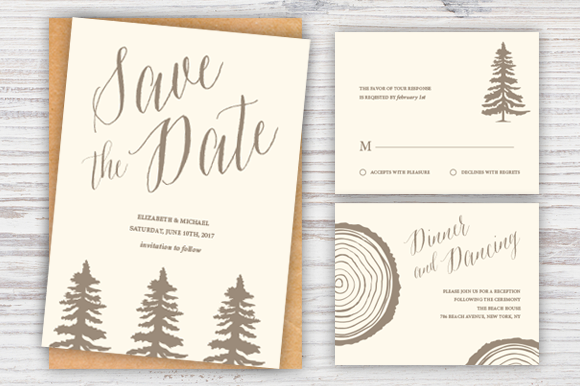 Rustic Wedding Suite Template