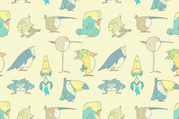Birds Seamless Background Pattern