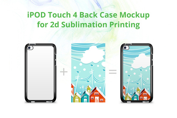 IPod Touch 4 2d Case Mock-up