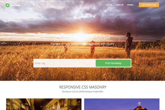 Homestay Responsive Template