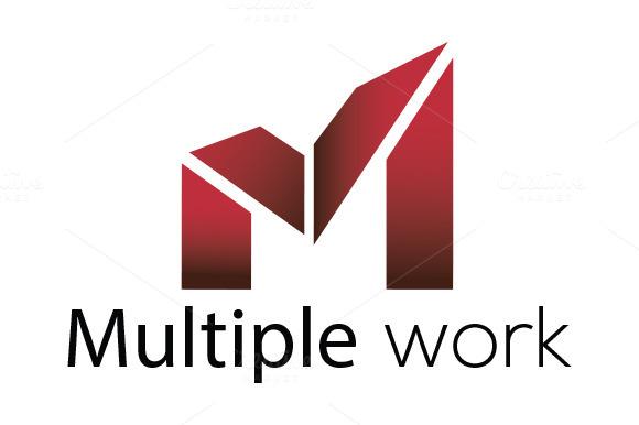 Multiple Work Letter M Logo Template