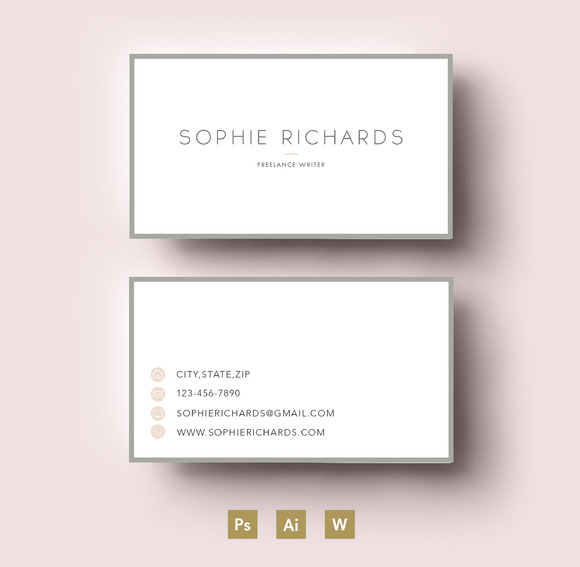 Modern Two Side Business Card Templa
