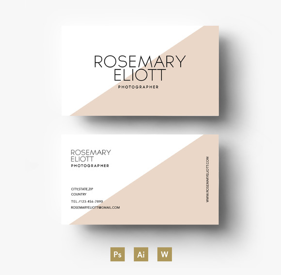 Two Colour Business Card Template