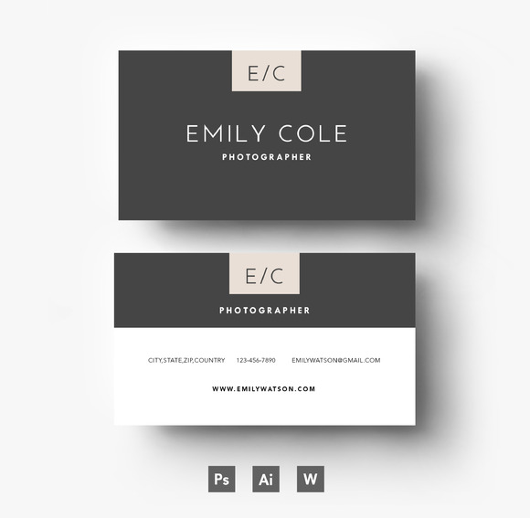 Two Side Business Card Template