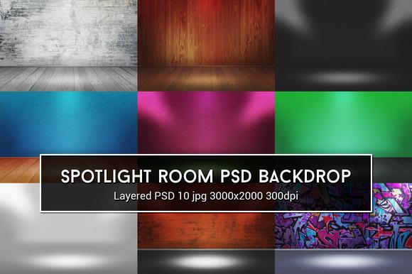 Spotlight Room PSD Background