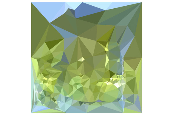 Limerick Green Abstract Low Polygon