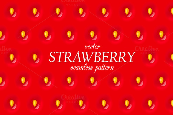 Red Strawberry Seamless Pattern