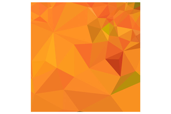 Pumpkin Orange Abstract Low Polygon