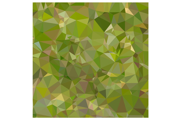 Sap Green Abstract Low Polygon Backg