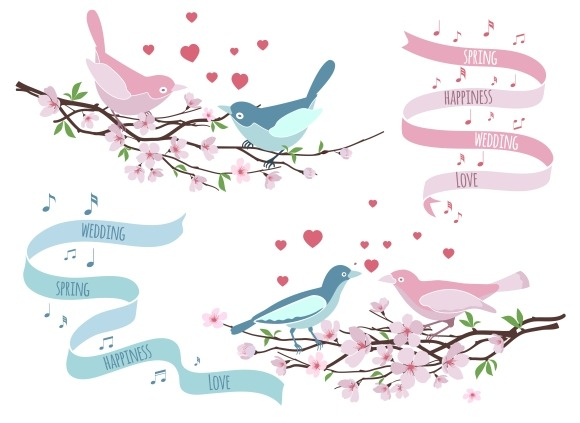 Birds On Branches For Wedding