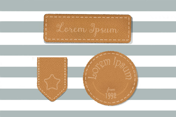 Leather Labels Collections In Vector
