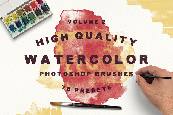 75 Watercolor Brushes Vol.2