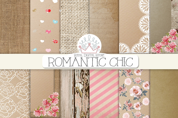ROMANTIC CHIC Digital Paper