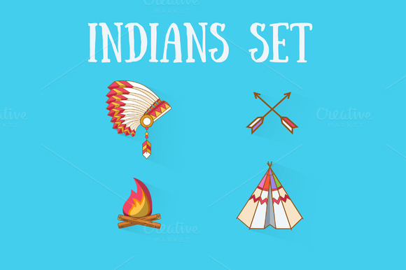 Flat Indians Set